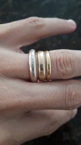 Alianças Ouro 18k 750 Noivado Casamento Boldas De Prata