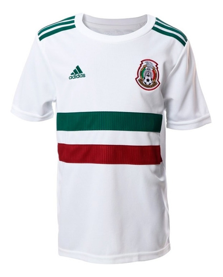Jersey Seleccion De Mexico Visitante Niño adidas Bq4687