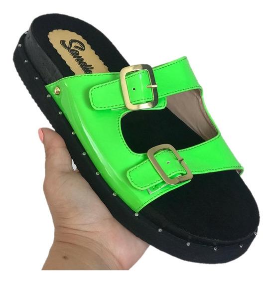 Calzado Sandalias Baja Para Las Damas 100% Garantizado Caja