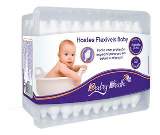 Hastes Flexíveis 100% Algodão C/ 50 Un Baby Bath B213874