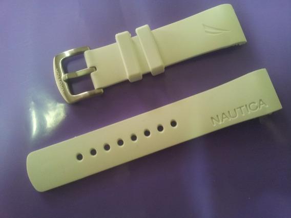 Pulseira Nautica Original N14555 A19585g Nct400 Branca