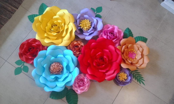 6 Flores De Papel Gigantes - Deco Backdrop