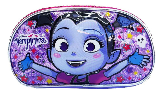 Catuchera Vampirina Escolar Neoprene 3d Doble Cierre Lic. Of