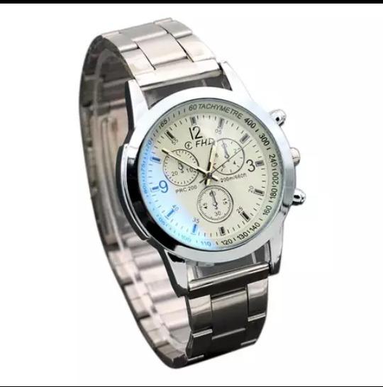 Relógio Original Em Aço Inoxidável+frete Gratis Todo Brasil