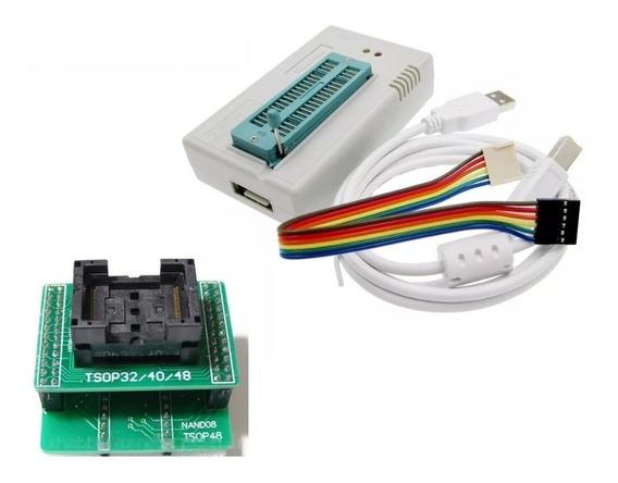 Gravador Tl866ii Plus + Adaptador Nand Tsop48 Tsop32 Tsop40