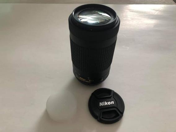 Lente Nikon Af-p Dx 70-300 1:4.5-6.3g Ed Frete Grátis 12x S/juros
