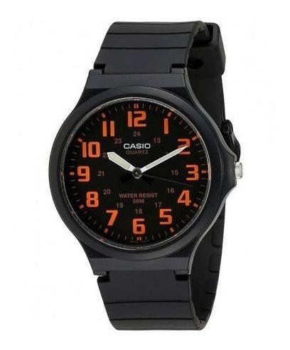 Relógio Casio Analógico Masculino Resina Preto/laranja
