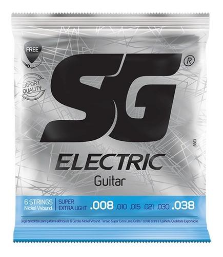 Imagen 1 de 3 de Encordado Sg Guitarra Electrica Extra Light 08 38 Cuerdas