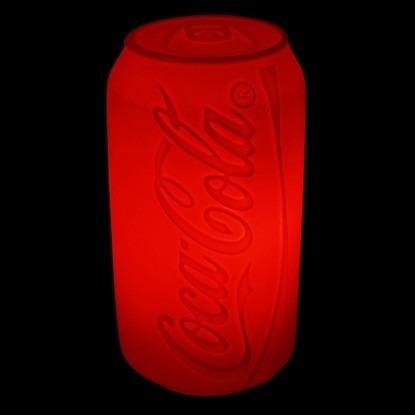 Luminária Coca Cola De Mesa Formato De Lata Bivolt Vermelha