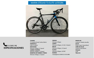 Bicicleta Marin Stelvio T3 Elite Full Carbono