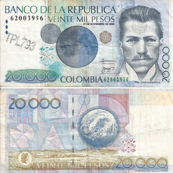 Cédulas Moeda Moedas Papel Peso Colômbia Kit Dinheiro