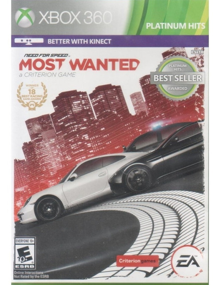 Need For Speed: Most Wanted Platinum Hits - Xbox 360 Lacrado