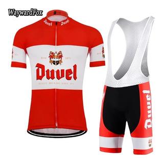 Lote Com 10 Conjuntos De Ciclismo, Bretelle + Camisa.
