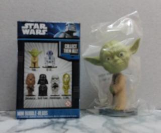 5 Mini Bobble-head - Star Wars - Yoda C-3po Vader Chewbacca