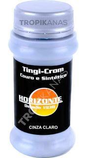 Tinta Para Couro Spray Banco De Couro Carro Cinza Claro Tpk