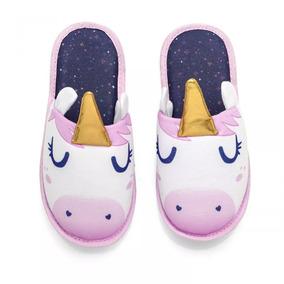 Pantufa Com Aplique Unicornio - P - Ludi