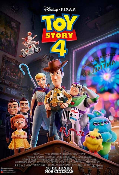 Dvd Toy Story 4 - Dublado - Full Hd + Brinde 3 Filmes Pixar