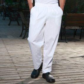 Calça Profissional Em Oxford P/ Padeiro (kit 5) Branco