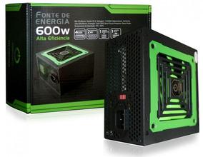 Fonte 600w Real One Power Mp600w3-i Bivolt C/ Conector Pci-e