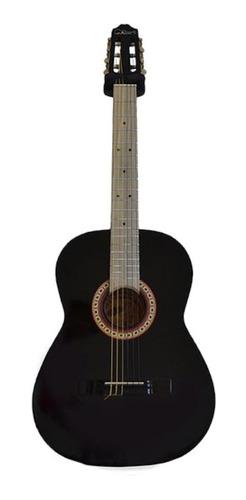Imagen 1 de 2 de Guitarra clásica La Purepecha GECN negra