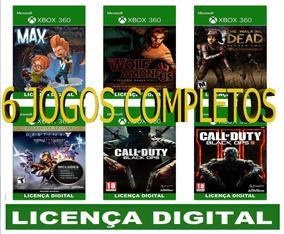 Destiny+twd2+bo1+bo3+wolf+max - Xbox 360 - Mídia Digital