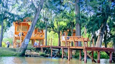 Cabañas En Alquiler En El Delta .sobre Rio Carapachay Km 10