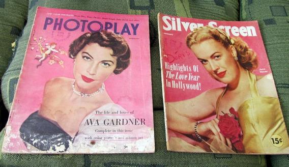 Lote 2 Photoplay Marilyn Monroe Ava Gardner John Derek Kelly