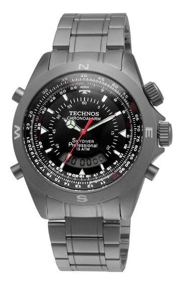 Relógio Technos Masculino Skydiver Titânio T20563/1p C/ Nfe