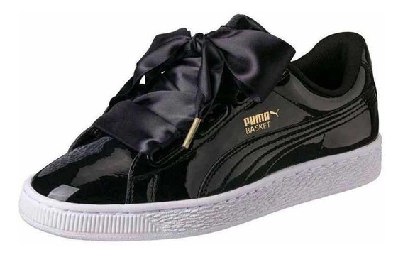Zapatillas Mujer / Niña Puma Basket Heart Negro /blanco