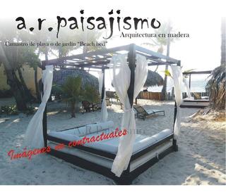 Camastro Con Techo Cama De Playa Sombrilla Reposera 2x2m