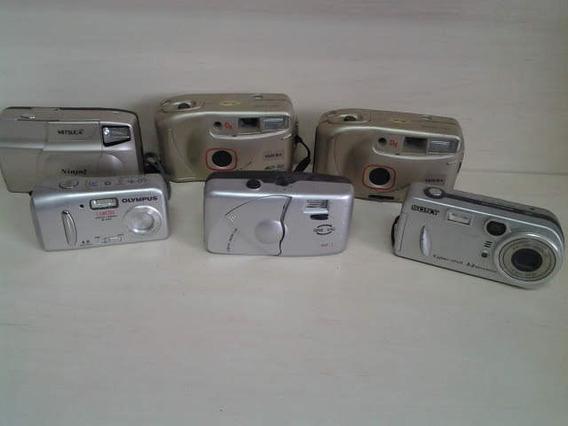Lote 6 Cameras Fotográficas - Coleção- Aproveitamento Peças