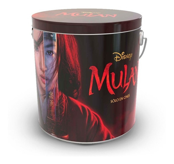 Pochoclera Lata Mulan Cine ( Disney )