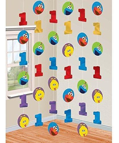 1er Cumpleaños Decoraciones De Cuerdas De Elmo Suministros