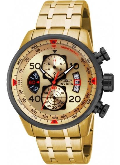 Relógio Invicta Aviator 17205 - Ouro 18k