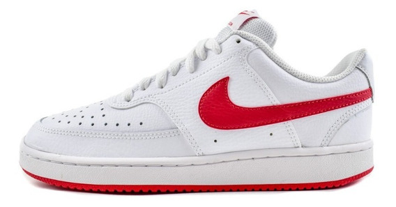 Tenis Nike Court Vision Low Mujer Blanco Rojo Cd5434-101