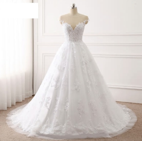 Vestido De Novia Corte Princesa Ivory Hermoso Importado