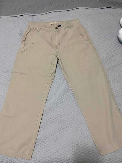 Calça Oakley Beje Brim 40 Jeans Masculina