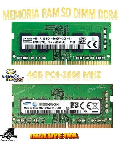 Memoria Ram 4gb Ddr4-2666mhz Sodimm Laptop Samsung Inc Iva