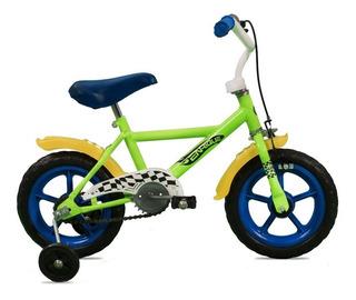 Bicicleta Enrique R12 003 Ruedas Plasticas C/rueditas Niños