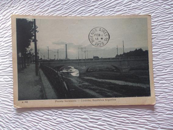 8221- Postal Antigua Cordoba Pte. Sarmiento 1923 Peuser 702