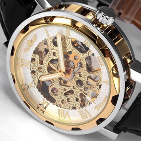 Relógio De Luxo Esqueleto Automático Masculino Feminino