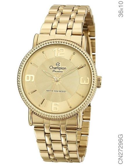 Relógio Champion Feminino Dourado Cn27296g