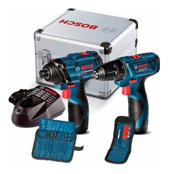 Kit Atornillador + Llave De Impacto Bosch Gdr + Gsr 120 Li