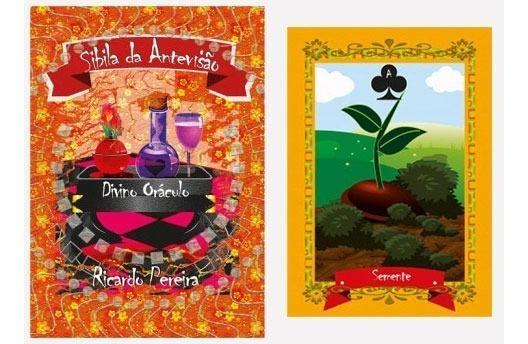 Kit-1 Baralho/livro Sibila Antevisão: Divino Oráculo Tarot