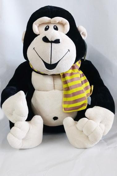 Boneco Macaco Gorila Pelúcia Cachecol Buba Fofinho