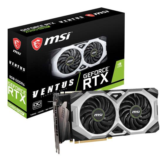 Placa de video Nvidia MSI GeForce RTX 20 Series RTX 2080 GEFORCE RTX 2080 SUPER VENTUS XS OC OC Edition 8GB