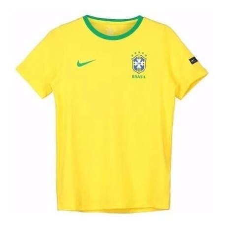 Camiseta Brasil Cbf Crest Masculino Manga Curta - Original