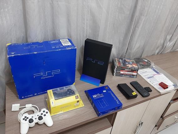 Playstation 2 Fat, Na Caixa, Raro Estado.