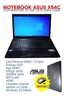 Notebook Asus X54c Con Windows 10 Lista Para Usar