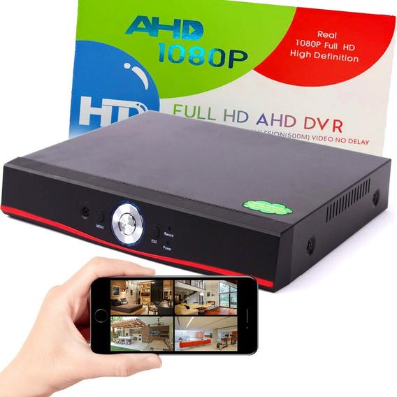 Gravador Dvr 4 Câmeras Híbrido 1080p P2p Cloud Multihd 5 Em 1 Flex Ahd Analógica Digital Hdcvi Hdtvi Ip Aplicativo Xmeye